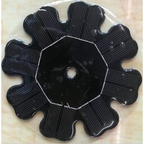 圆形带孔太阳能电池板
