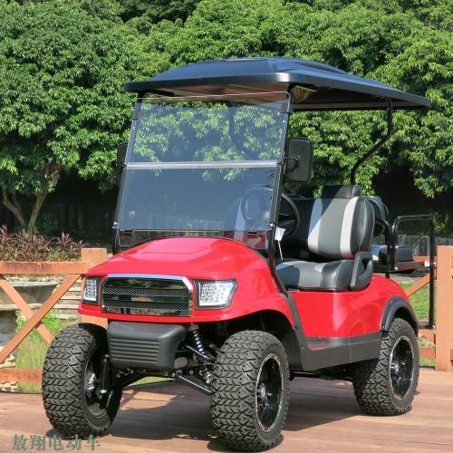 四座高爾夫球車休閑代步電瓶車