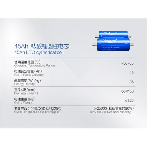 钛酸锂圆柱电池