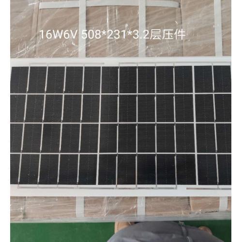 16W6V 太阳能电池裸板光伏发电层压件