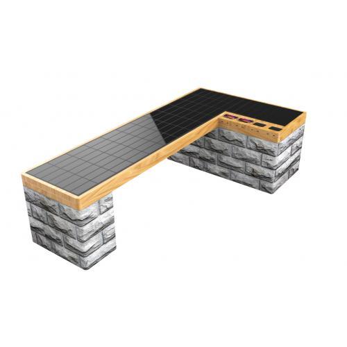 太阳能休息长椅