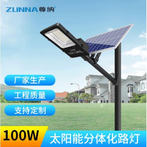 100W光伏太阳能路灯