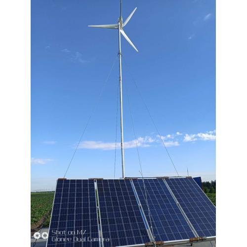 低风速启动高效5000W水平轴风力发电机
