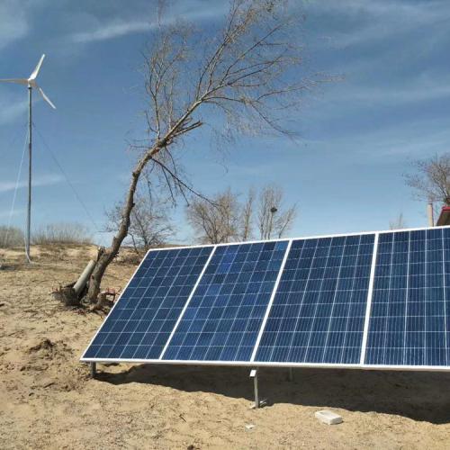 風光互補太陽能路燈 500w太陽能光伏板