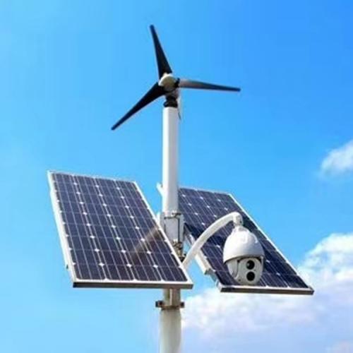 500w太陽能路燈風光互補帶監控路燈