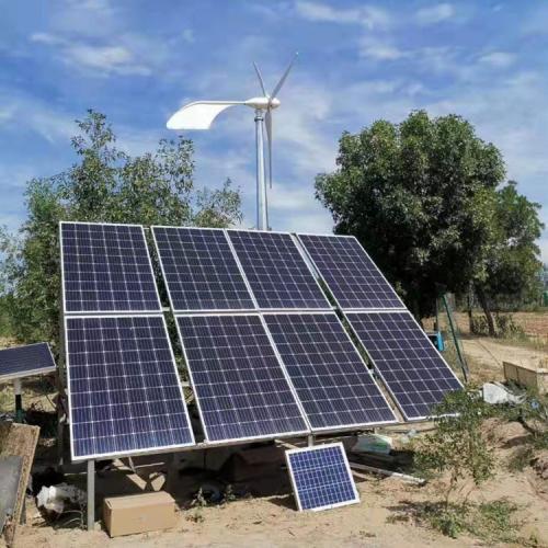 光伏板系统风光互补太阳能电池板