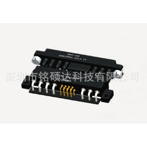 矩形熱插拔電源連接器