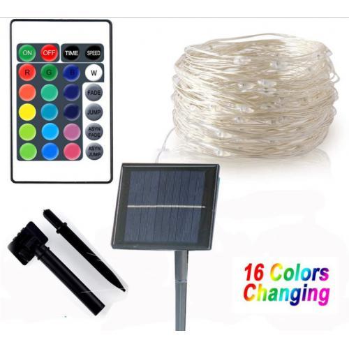 16色太阳能灯串