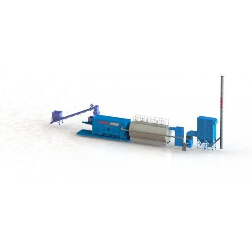 10T东燃生物质半气化炉卧式生物质半气化炉