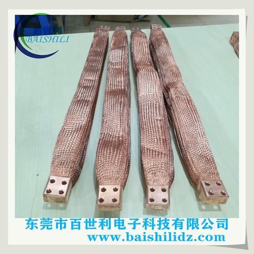 大电流多层镀锡铜编织带软连接图片