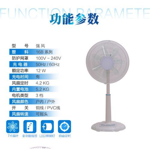 太陽能可充電式多功能應急電風扇