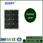 40w太阳能单晶电池板